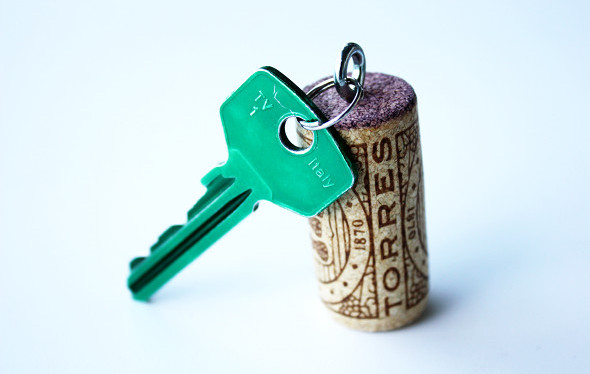 Cork crafts - Key chain