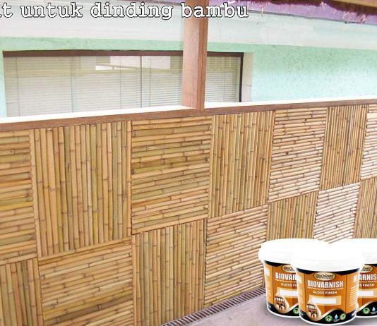 cat-kayu-untuk-dinding-bambu