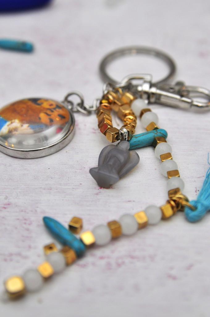 Schlüsselanhänger mit edelstein engel und Foto DIY