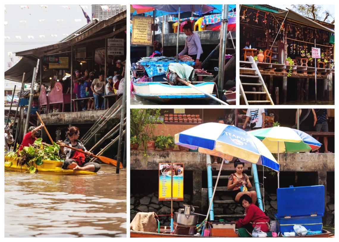 Schwimmender Markt nördlich von Bangkok