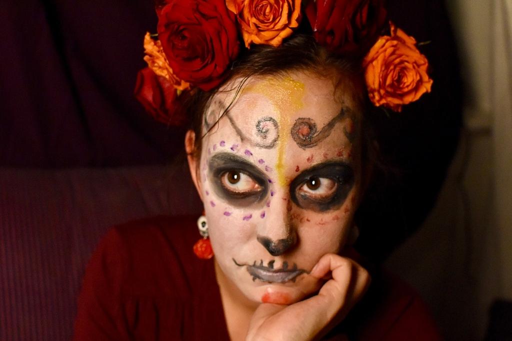 Halloween Schminke Zum Selber Machen.Halloween Make Up Aus Lebensmitteln Selber Machen Mexiko Look