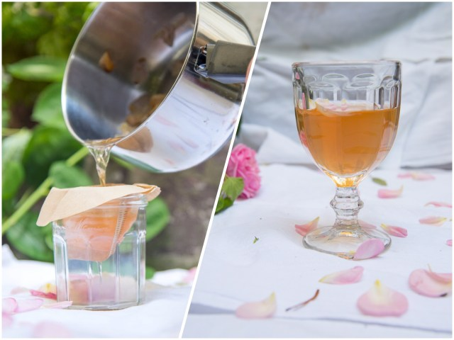Rosenwasser selbstgemachte