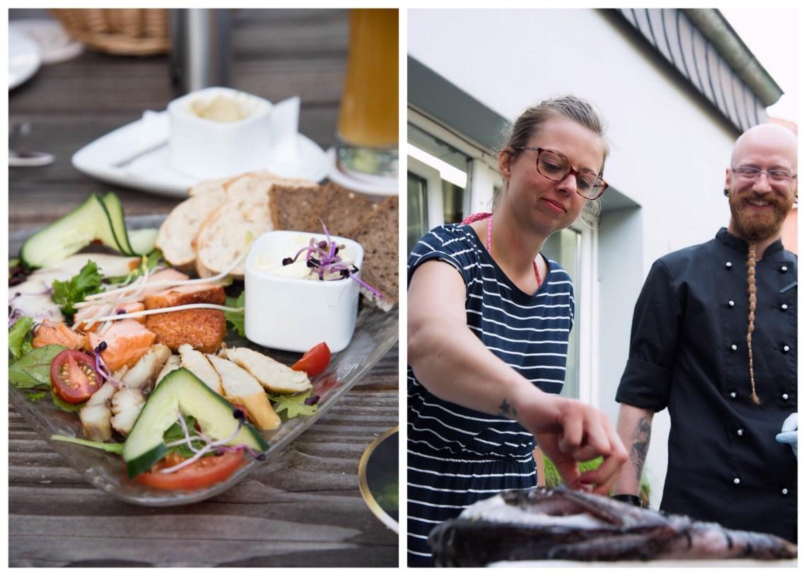 Fischwerk Norderney Restaurant : Verena kontrolliert nochmal