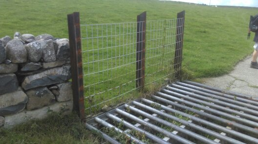 Circular bars on Cattle Grid