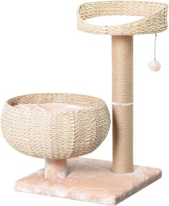 PetPals New Paper Rope Natural Bowl Shaped