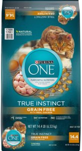 Purina ONE True Instinct Grain-Free Dry And Wet Cat Food