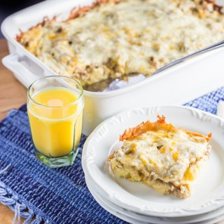 Overnight Sausage Egg Cheese Breakfast Casserole