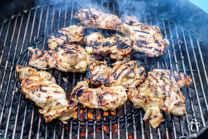 This scrumptious recipe for grilled honey lemon chicken is incredibly simple, and, not counting the 30-min-marinade, takes less than half an hour to make!