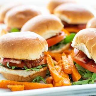 Easy BLT Sliders with Arugula & Camp Sauce