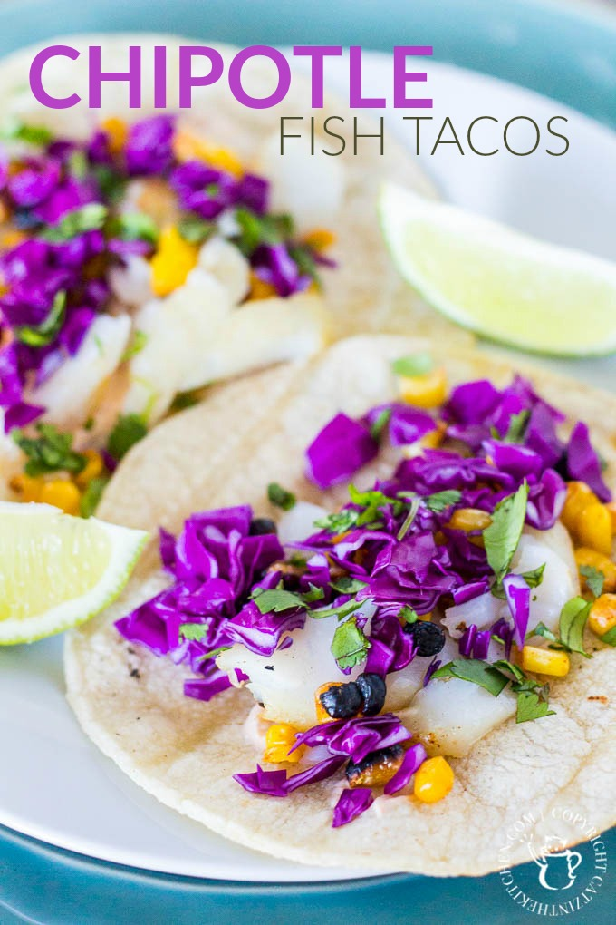 Chipotle fish tacos are creamy, spicy, crunchy, smokey, and fresh - they really have it all. They have become a summer grilling mainstay for our family!