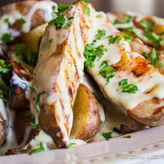 Smoky Grilled Potato Wedges
