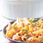 Skinny Three Cheese Penne | Catz in the Kitchen | catzinthekitchen.com | #Pasta #NewYears #Recipe #Penne #Healthy