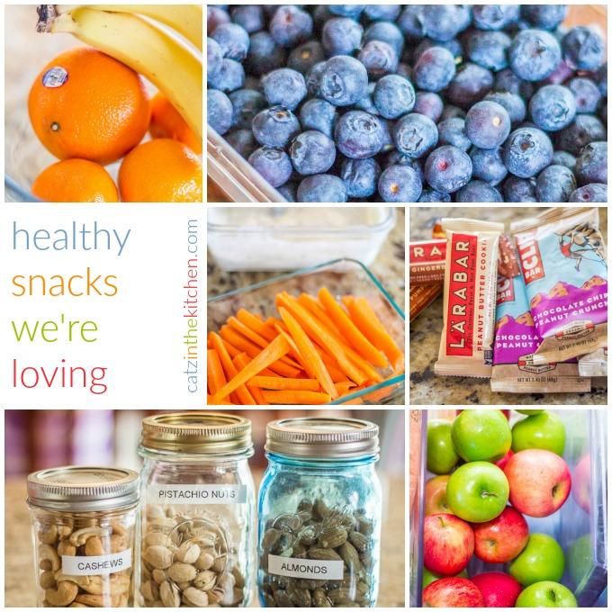 Healthy Snacks We're Loving | Catz in the Kitchen | catzinthekitchen.com | #healthy #snacks