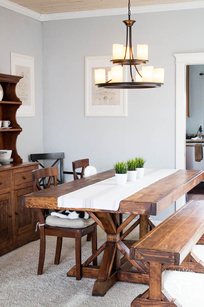 Perfect We decided to try this DIY Farmhouse Formal Dining Table project despite having no experience