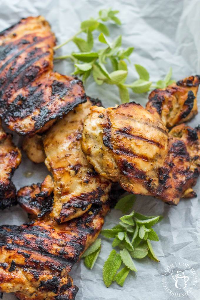 Mediterranean Grilled Honey Mustard Chicken Image