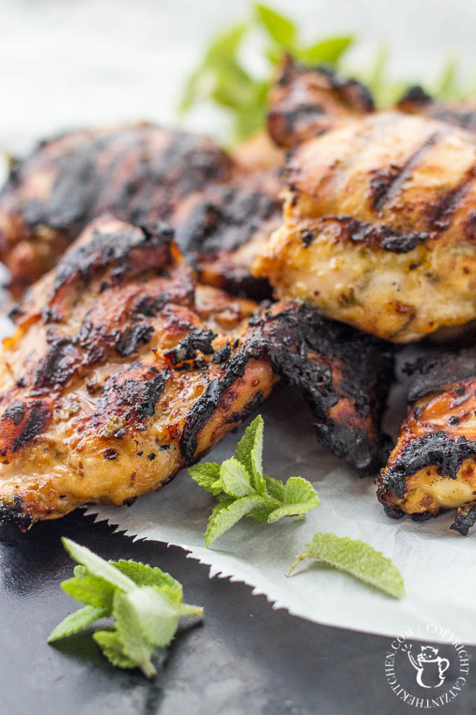 Mediterranean Grilled Honey Mustard Chicken Photo