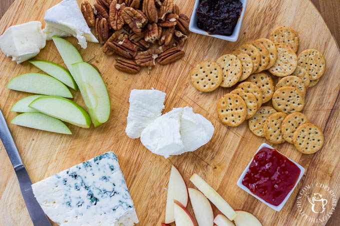 A DIY Cheese Plate is a great way to jazz up your snack situation for a family game night, a get together with friends, or anytime you're feeling snacky!