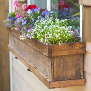 DIY Window Box and Shutters