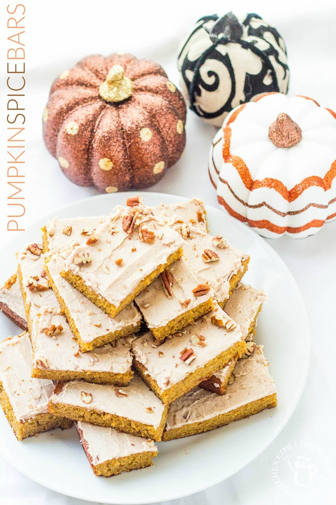 If you're one of those autumn enthusiasts who just can't wait to get fall started, then this recipe for Pumpkin Spice Bars was made for you!