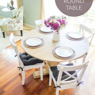 DIY Farmhouse Round Table