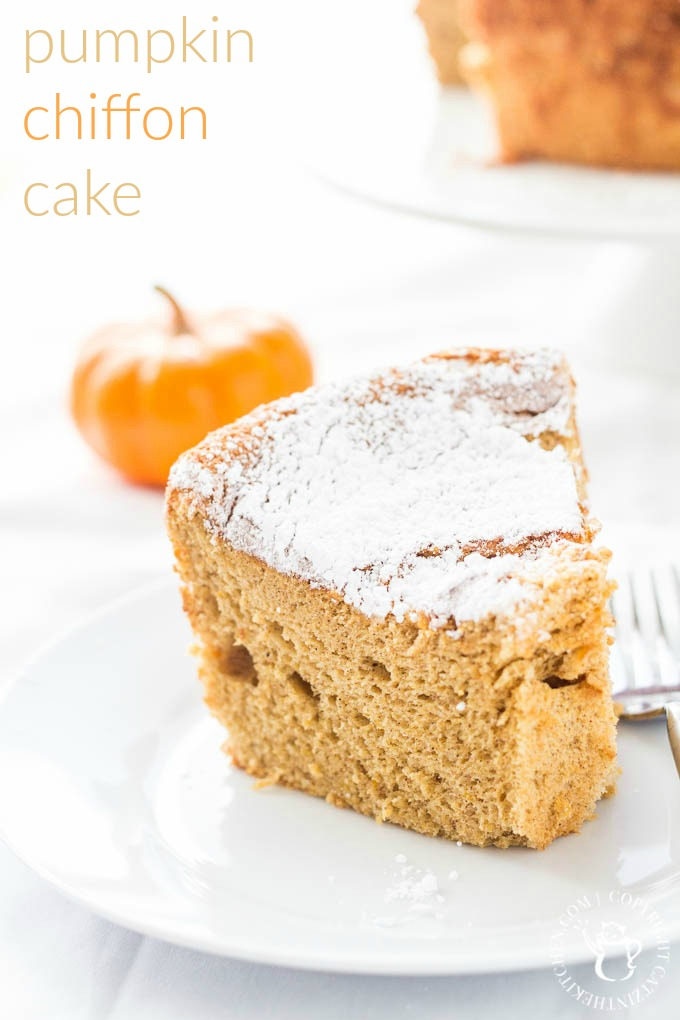 If you're craving cake & beautiful autumn colors or maybe you just NEED CAKE...make this pumpkin chiffon cake. It feels like fall and tastes like fall!