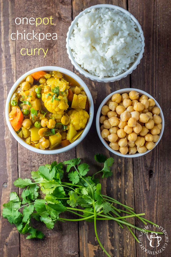 Quick and tasty while healthy and full of flavor, this one pot chickpea curry is definitely a recipe you and your family should try!