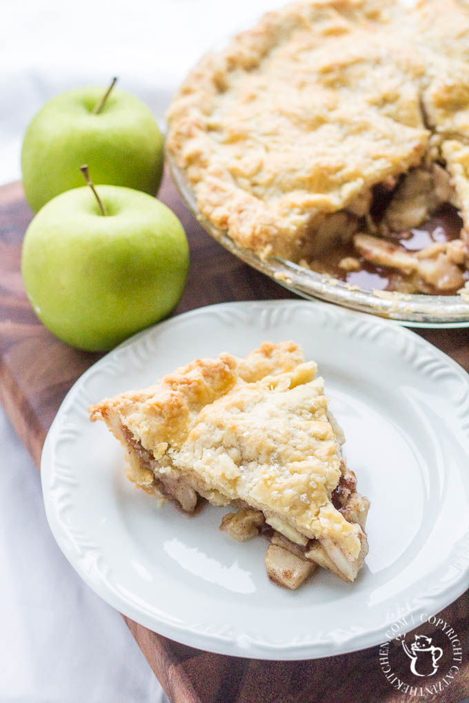 What makes this delicious, crumbly apple pie an Irish apple pie? We can't say for sure, but if this is what being Irish tastes like, we're in!