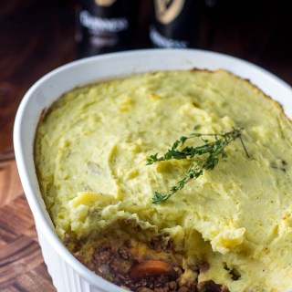 This Irish Shepherd's Pie uses the classic deep, rich flavor of Guinness to elevate this simple dish into a mouthwatering casserole recipe.
