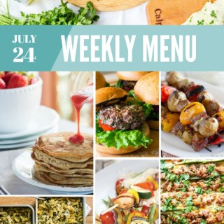 Weekly Menu for the Week of July 24th