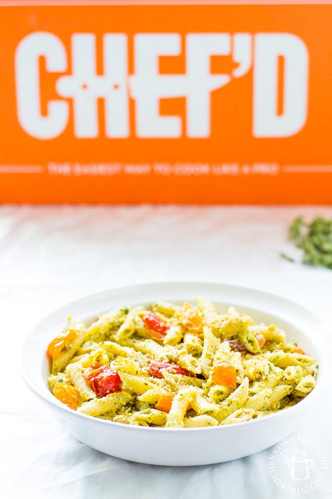 Catz Review: Chef'd Pistachio Pesto And Cherry Tomato Penne