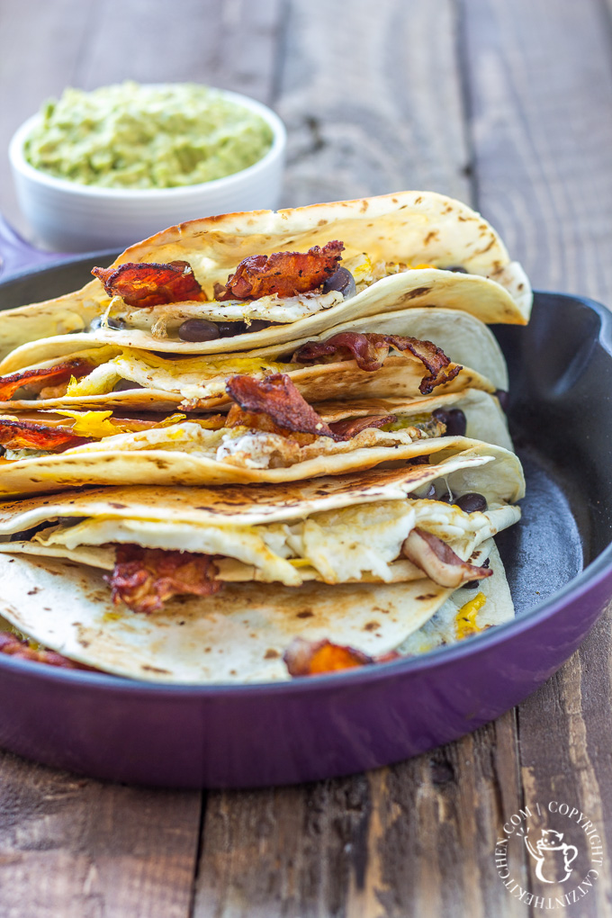 "This breakfast quesadilla recipe is one of our family's most requested ""breakfasts for dinner""! It is incredibly simple and totally craveable!"