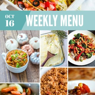 Weekly Menu for the Week of Oct 16th