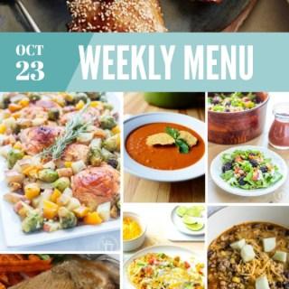 Weekly Menu for the Week of Oct 23rd