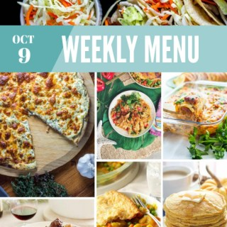 Weekly Menu for the Week of Oct 9th