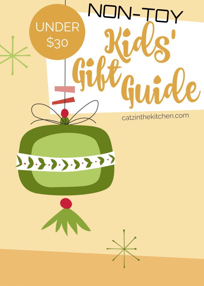 Under $30 Non-Toy Kids' Gift Guide   Catz in the Kitchen   catzinthekitchen.com   #giftguide