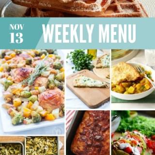 Weekly Menu for the Week of Nov 13th