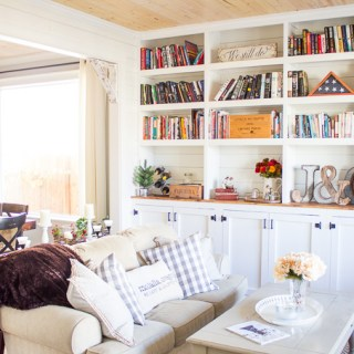 DIY Home Library Built-In