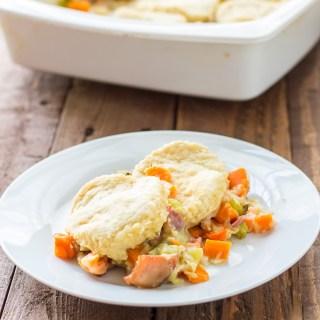 Buttermilk Biscuit Ham Pot Pie