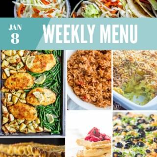 Weekly Menu for the Week of Jan 8th