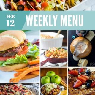 Weekly Menu for the Week of Feb 12th