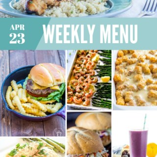 Weekly Menu for the Week of April 23rd