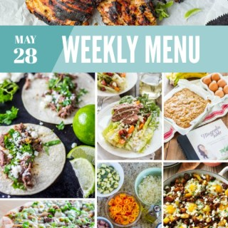 Weekly Menu for the Week of May 28th