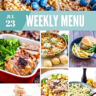 Weekly Menu for the Week of July 23rd