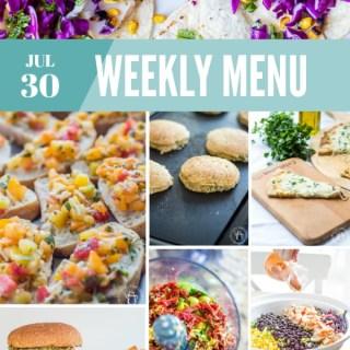 Weekly Menu for the Week of July 30th