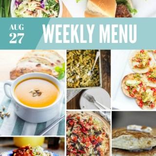 Weekly Menu For the Week of Aug 27