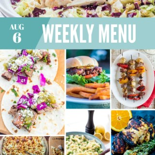 Weekly Menu for the Week of Aug 6th