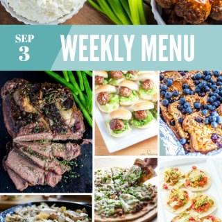 Weekly Menu for the Week of Sep 3rd