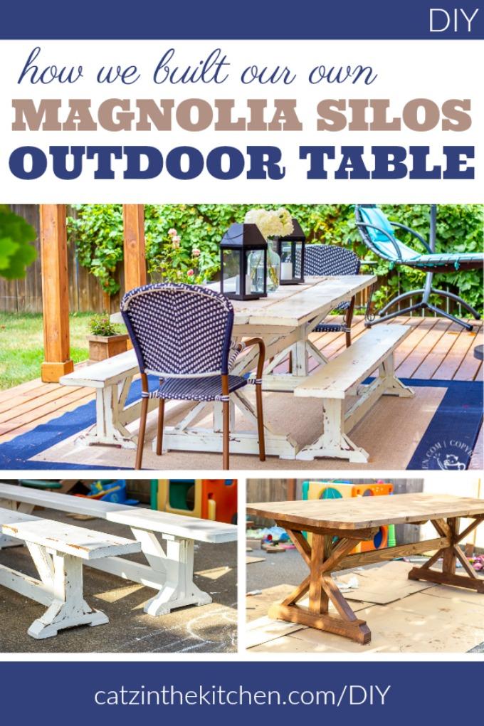 foto de DIY: How We Built Our Own Magnolia Silos Outdoor Table - Catz in ...