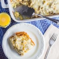 Overnight Sausage Egg & Cheese Breakfast Casserole