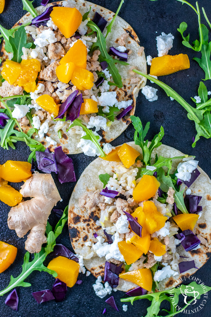These pork and peach street tacos are a bright, light fusion blend of flavors and ingredients in a recipe that is healthy, quick, and, actually, beautiful!